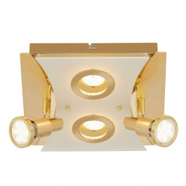 Zlatě zbarvené LED stropní svítidlo Sharon