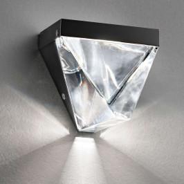 Fabbian Tripla nástěnné světlo LED křišťál antra