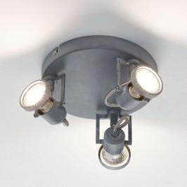 Concreto - třízdrojové LED stropní kruhové světlo