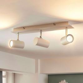 Tříbodové stropní LED světlo Iluk v bílé barvě