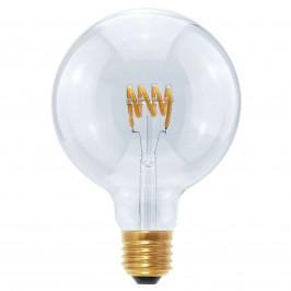 LED Globe G125 Curved Spirale E27 8W, teplá bílá