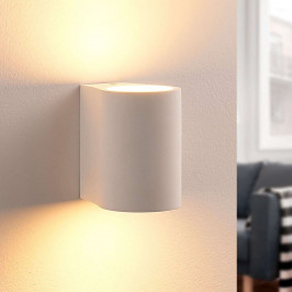 Nástěnné LED světlo Jannes, sádrové, kulaté