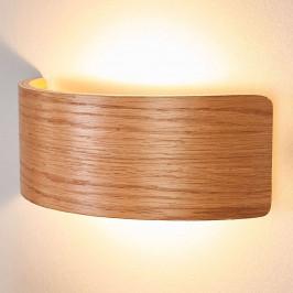 LED nástěnné světlo Rafailia 23cm, dřevo