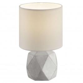 Textilní stolní lampa Pike s nohou tvaru diamantu