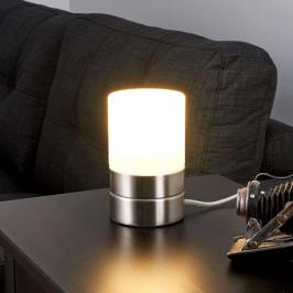 Lindby Sevda - stolní LED lampa, válcová