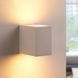 Nástěnné LED světlo Jannes, sádrové, hranaté