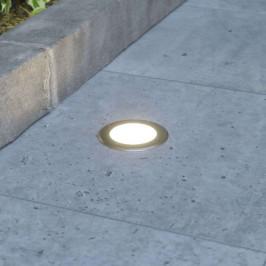 Kulaté LED zemní zápustné svítidlo Doris, nerez