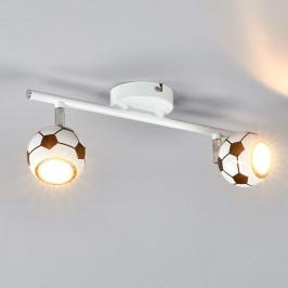 LED stropní svítidlo Play, 2 žárovky fotbalový míč