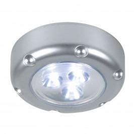 LED noční světlo Florenz s bateriemi, stříbrné
