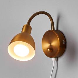 Amrei - pohyblivá nástěnná lampa ve staré mosazi