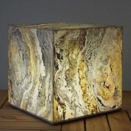 Dekorační krychlové světlo přírodní břidlice 49 cm