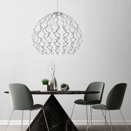Černé závěsné světlo LED Lamoi 80 cm