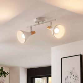 Bílá stropní LED lampa Arina, 2bodová