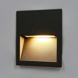 Čtvercové LED nástěnné vestavné svítidlo Loya