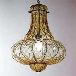 Ručně vyrobené závěsné světlo DOGE, jantar 53 cm