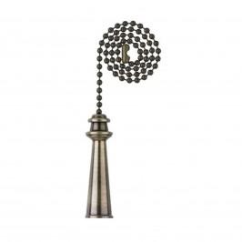 Westinghouse pouzdro, závěsný řetěz mosaz - antik