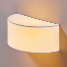 Polokruhová textilní nástěnná lampa Katrien