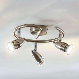 LED stropní reflektor Benina, 3zdrojový, spirála