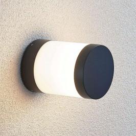 LED svítidlo se soklem Nitalia, kulaté, tmavě šedé