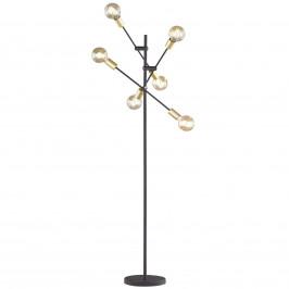 Stojací lampa Cross v černém a zlatém designu
