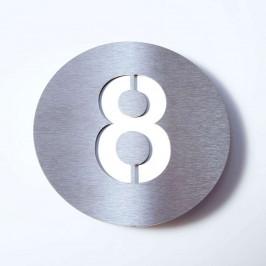 Domovní číslo Round z nerezu - 8