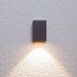 Grafitové LED venkovní nástěnné světlo Tavi 9,5cm