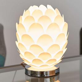 Stolní svítidlo Marees vbílém provedení, Ø 15cm