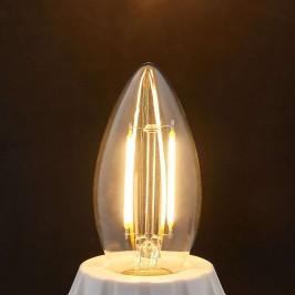 Lindby E14 LED žárovka svíčka Filament 2 W, čirá, 2 700 K