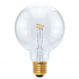 LED-Globe Curved Point E27 2,7W, teplá bílá