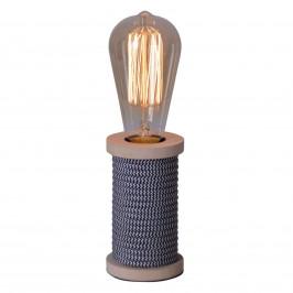 Näve Stolní lampa Max s dřevěnou nohou antracit