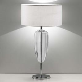 Stolní lampa Show Ogiva 82 cm čirý skleněný prvek