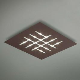Pattern - čtvercové LED stropní svítidlo, hnědé