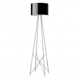 FLOS Ray F2 stojací lampa, černé stínidlo, stmívač