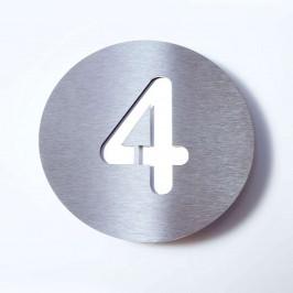 Domovní číslo Round z nerezu - 4
