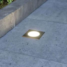 Doris - LED zemní zápustný reflektor, hranatý tvar