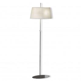 Krémově bílá stojací lampa Valentin se stínidlem