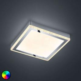 LED stropní svítidlo Slide, bílé, hranaté, 25x25cm