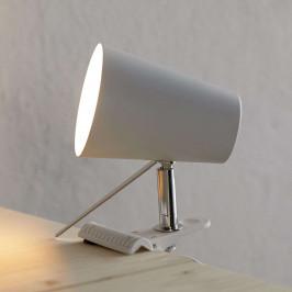 Bílá svítilna s klipem Clampspots moderní vzhled