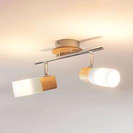 Dřevěný LED reflektor Christoph, 2bodový