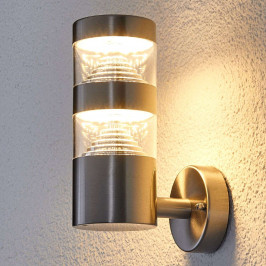 LED nerez venkovní nástěnné svítidlo Lanea přímé