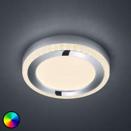 LED stropní svítidlo Slide, bílé, kulaté, Ø 25 cm