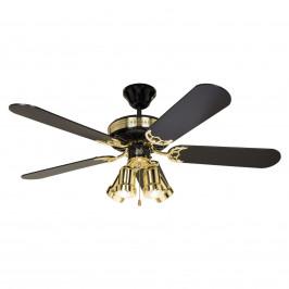 Stropní ventilátor Black Magic se svítidlem