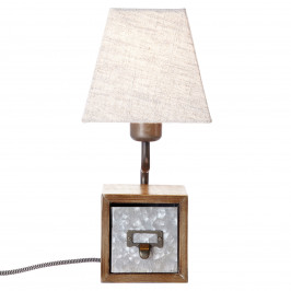 Brilliant Textilní stolní lampa Casket se zásuvkou