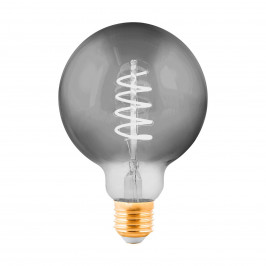 EGLO LED žárovka Globe E27 4W černá-transparent Ø 9,5cm