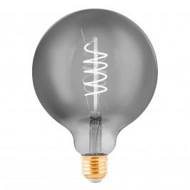 EGLO LED žárovka Globe E27 4W černá-transparent