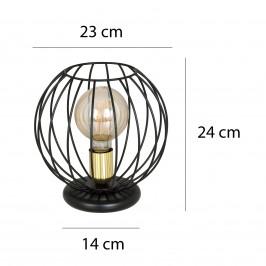 EMIBIG LIGHTING Stolní lampa Albio LN1 s klecovým stínidlem, černá