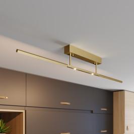 Lucande Lucande LED stropní světlo Tolu, mosaz, 119 cm