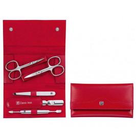 Zwilling Classic Inox manikúra, červená kůže, 5 ks