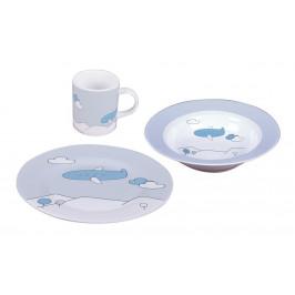 Sambonet Blue Plane sada dětského porcelánu, 3 ks