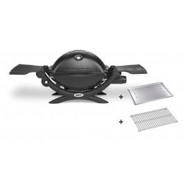 Malý plynový gril v černém provedení Weber Q 1200 black